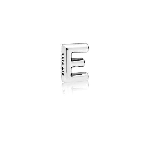 PANDORA Letter E Floating Petite Locket Charm 797322