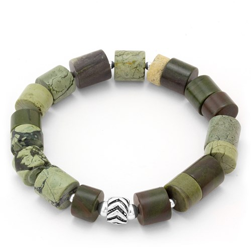 Green Camouflage Stretch Bracelet