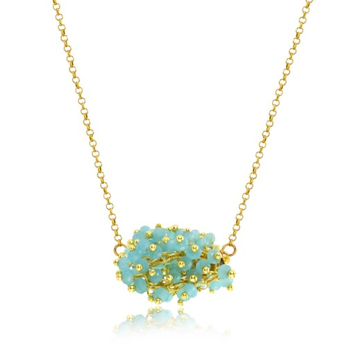 The Goddess Collection Ocean Chalcedony Cluster Necklace