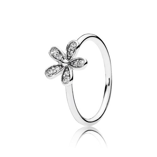 91fe2a25a PANDORA Dazzling Daisy with Clear CZ Ring ...