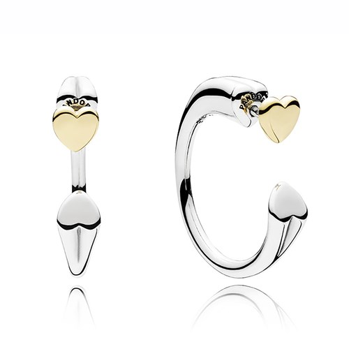 PANDORA Two Hearts Hoop Earrings