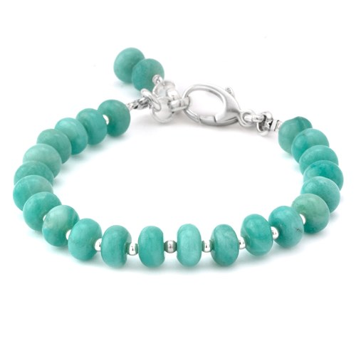 Amazonite Rondel Lollie