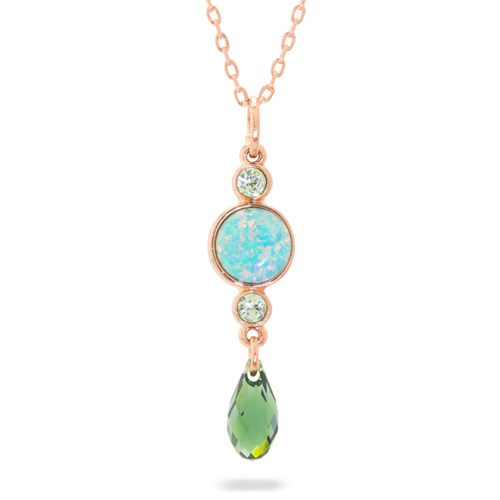 Mariana Green Opal Necklace N-5062-2SO-M2143-RG