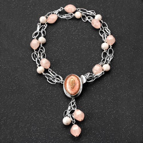 Elisa Ilana Rose Quartz Necklace