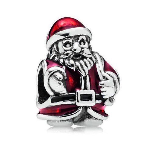 PANDORA St. Nick Santa with Red Enamel Charm