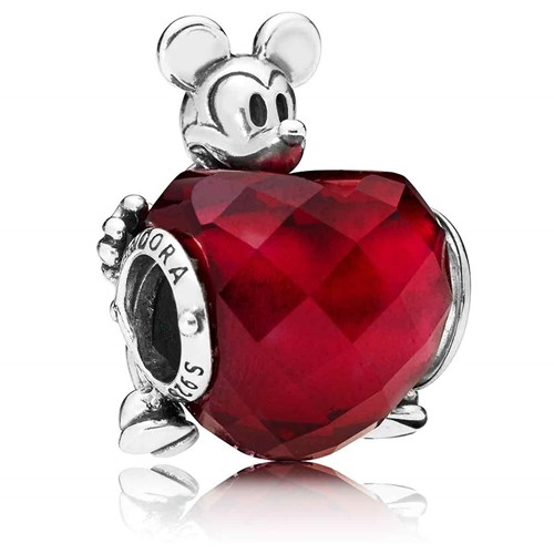 PANDORA Disney, Mickey Love Heart Charm 797168NFR