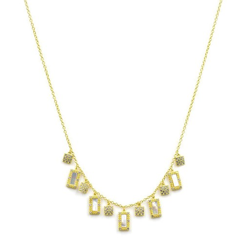 Freida Rothman Mother of Pearl Fringe Necklace