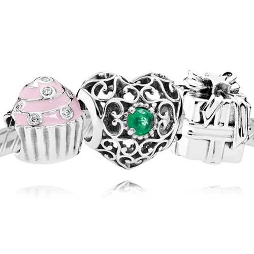 PANDORA Happy May Birthday Charm Set