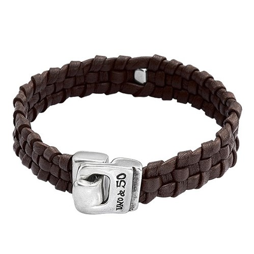UNOde50 Narrow Minded Brown Bracelet Clasp