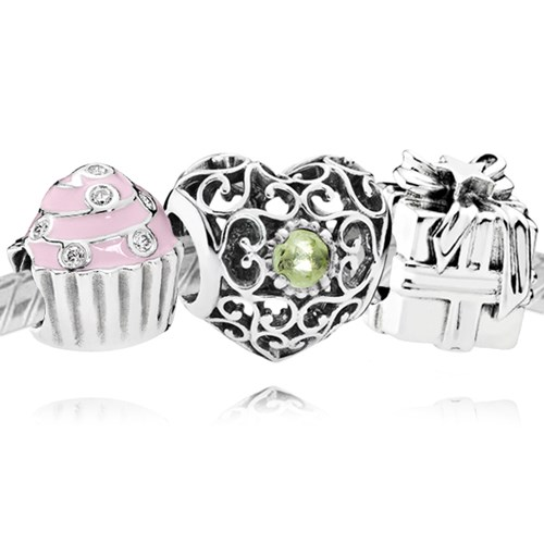 PANDORA Happy August Birthday Charm Set