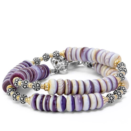 The Goddess Collection Spiny Oyster Double Bracelet