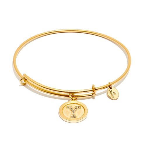 Chrysalis Initial Y Gold Bangle