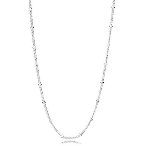 PANDORA Silver Beaded Necklace Chain 397210