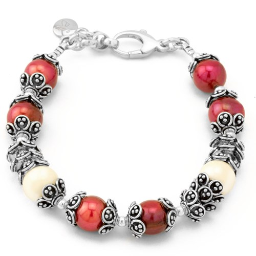 The Goddess Collection Cranberry Pearl Bracelet 10645B
