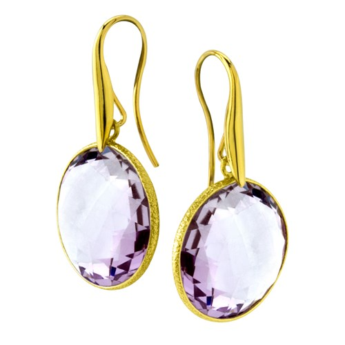 Elisa Ilana Faceted Amethyst Earrings