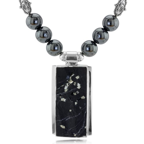 The Goddess Collection Hematite Necklace