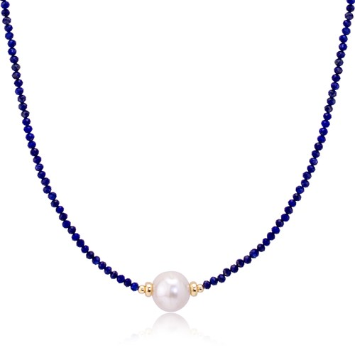 Impressionist Collection Lapis & Pearl Necklace 10926N