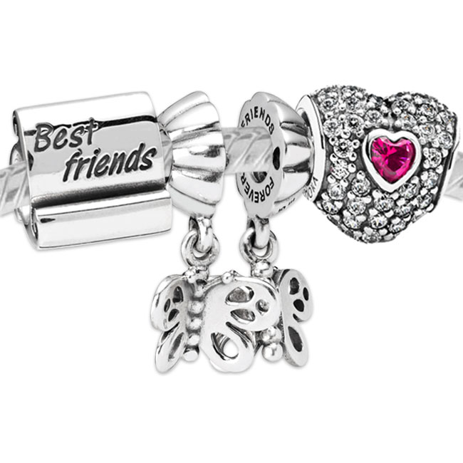 9f1bc10d1 Pandora Silver Best Friends Charms Outlet 790512