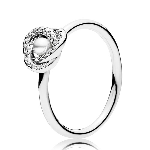 1a641f285 ... new arrivals pandora luminous love knot white crystal pearl clear cz  ring 09fca a42fe