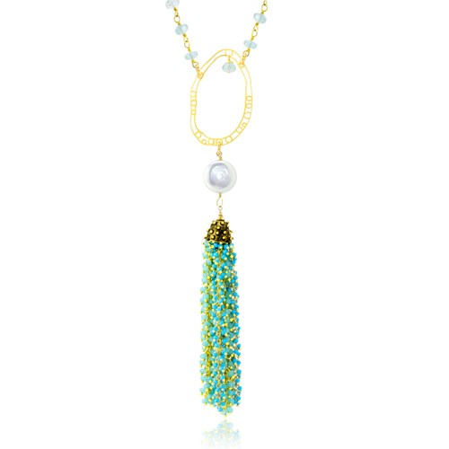 The Goddess Collection Turquoise & Aquamarine Necklace