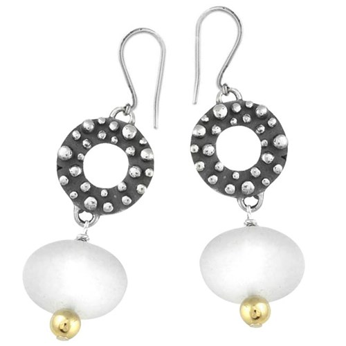 Elisa Ilana Frosted Quartz Earrings