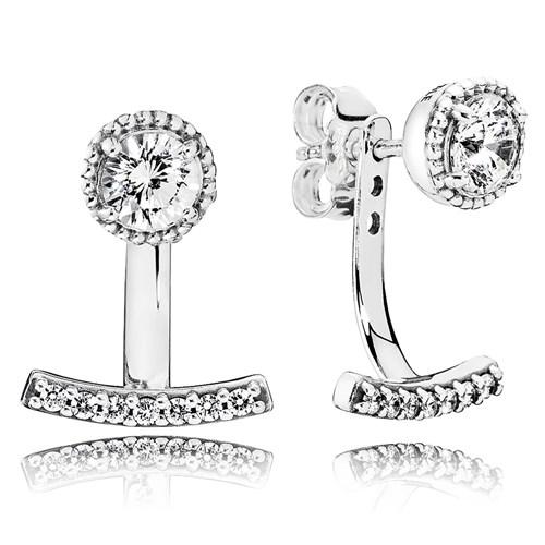 Pandora Abstract Elegance Clear Cz Earrings