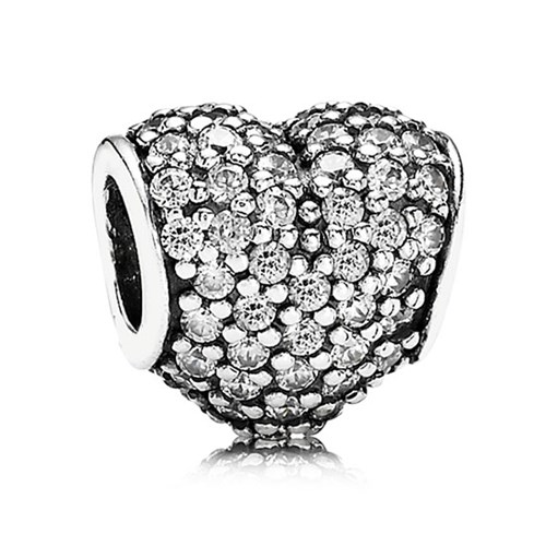 PANDORA Pavé Heart with Clear CZ Charm