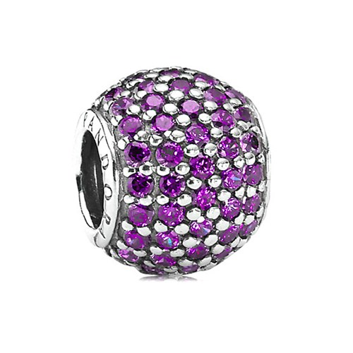 PANDORA Pavé Lights Fancy Purple CZ Charm