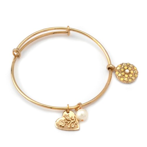 Mariana Pearl Angel Bangle