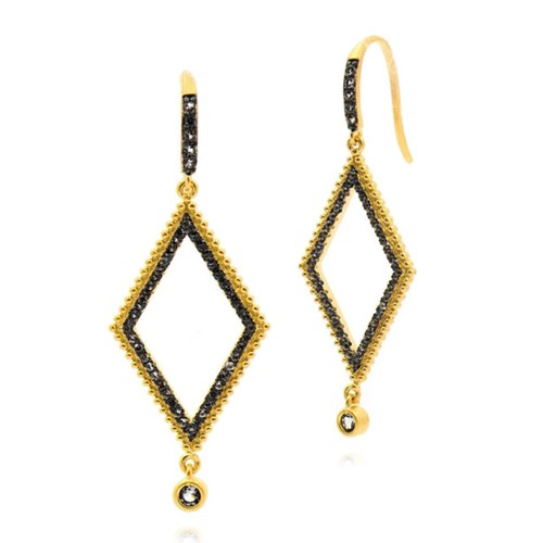 Freida Rothman D'or Rhombus Earrings