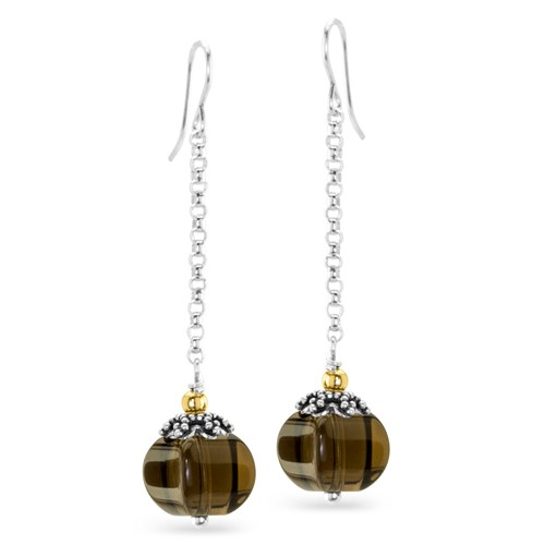 Impressionist Collection Smokey Quartz Earrings 10847E