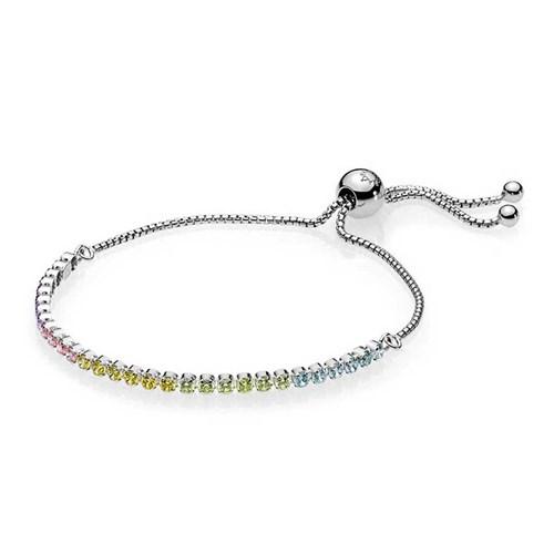 Pandora Multi Color Sparkling Strand Bracelet