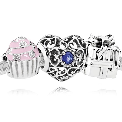 PANDORA Happy September Birthday Charm Set