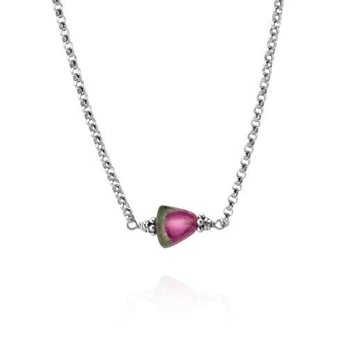 Elisa Ilana Watermelon Tourmaline Necklace
