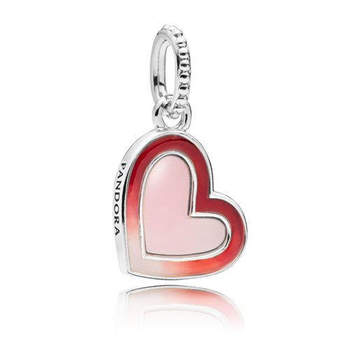 Asymmetric Heart of Love Mixed Enamel Dangle Charm 797820ENMX