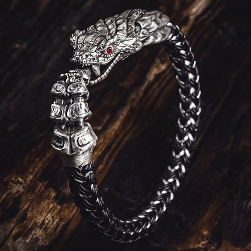 William Henry Full Circle Dragon Bracelet