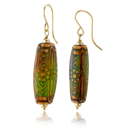 Moodies Collection Abstract Tube Earrings 10760E