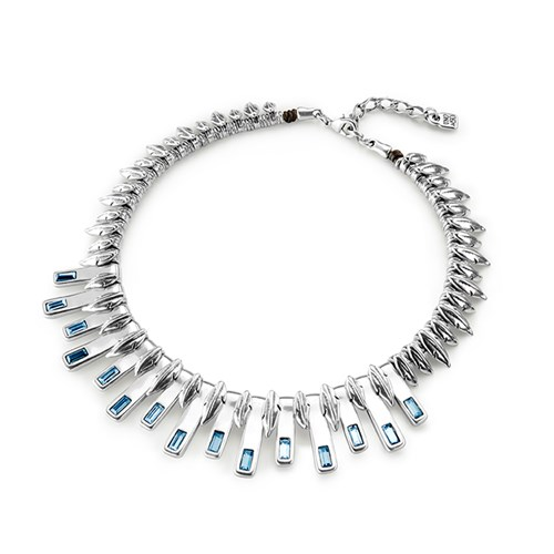 UNOde50 Little Nightbird Necklace with Blue SWAROVSKI crystals