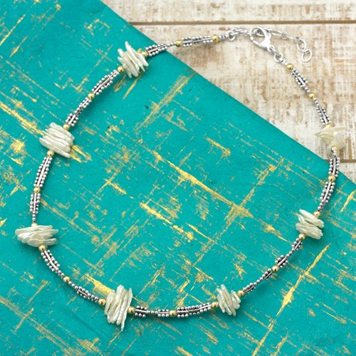 Stick Pearl Necklace