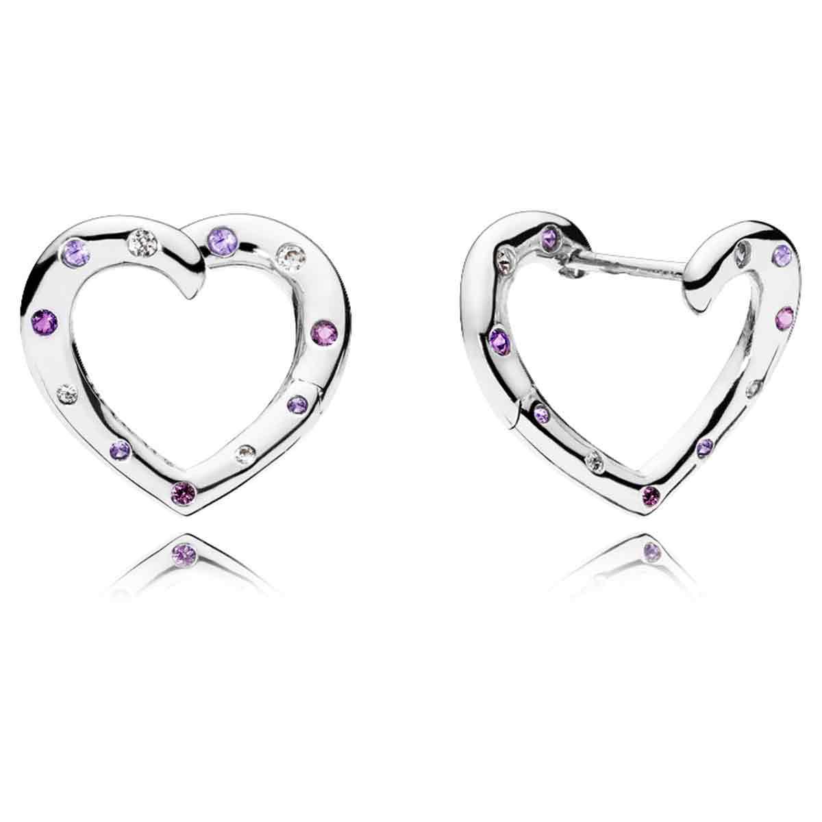 b34c58c3b PANDORA Bright Hearts Hoop Earrings 297231NRPMX