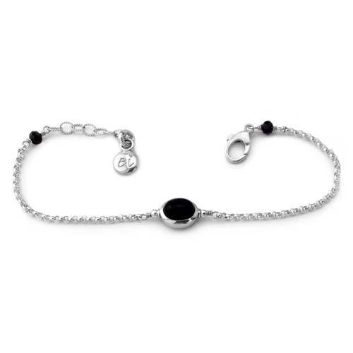 Elisa Ilana Onyx and Sterling Silver Bracelet