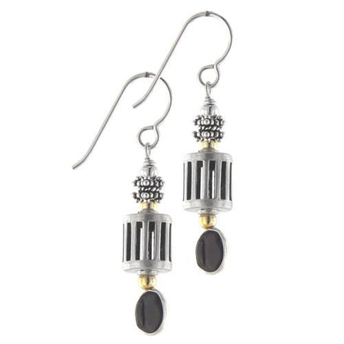 Elisa Ilana Onyx Dangle Earrings