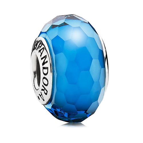 PANDORA Fascinating Aqua Faceted Murano Glass