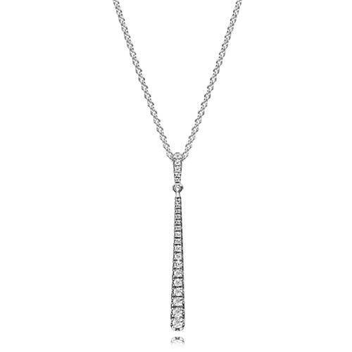 PANDORA Shooting Star CZ Necklace
