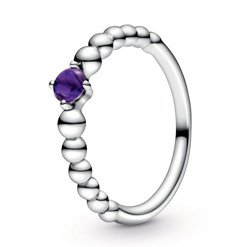 Pandora Purple Beaded Ring 198598C03