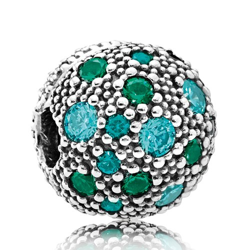 PANDORA Cosmic Stars, Multi-Colored Crystals & Teal CZ Clip