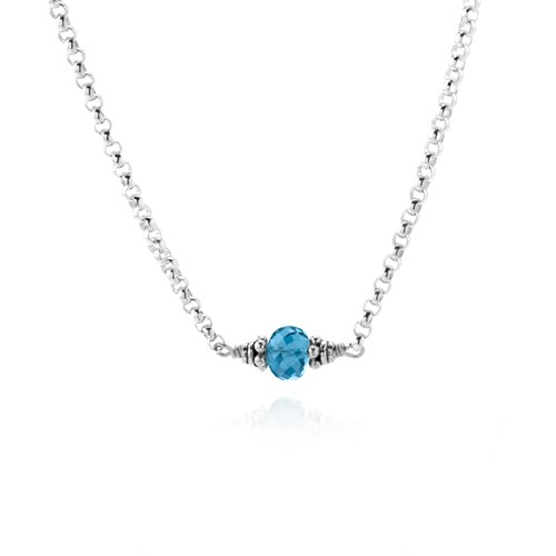 Elisa Ilana Blue Topaz Petite Necklace
