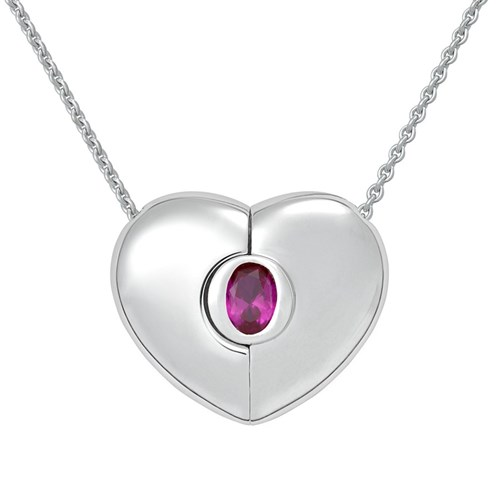 Petra Azar July Heart Necklace