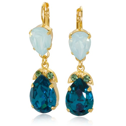 Mariana Congo Dangle Earrings E-1032-4-1076-YG6