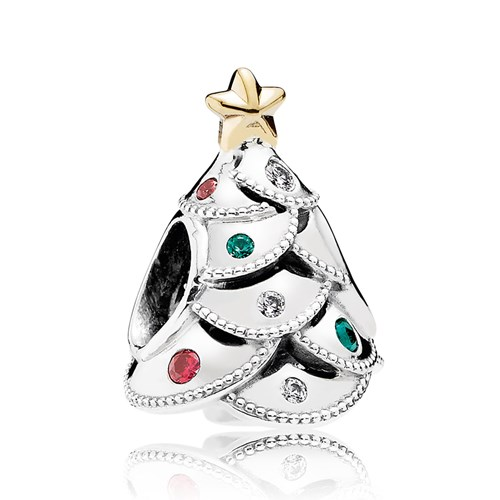 PANDORA Festive Tree, Multi-Colored CZ Charm